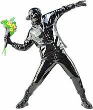 LISAQ Banksy Flower Bomber Resin Figurine England