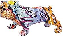 LISAQ Colorato Cartone Animato Cane Statua