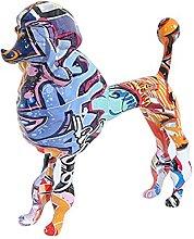 LISAQ Graffiti Pet Figurine Barboncino Statua Cane