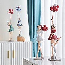 LISAQ Palloncino Ragazza Figurina in Miniatura 3D