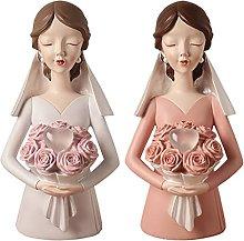 LISAQ Statua della Sposa Scultura da Tavolo Regali