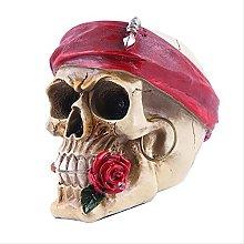 LISAQ Teschio Horror Statua Creativo Stile Pirata
