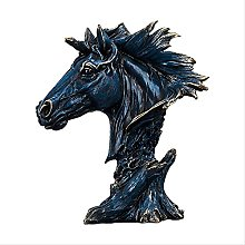 LISAQ Testa di Cavallo Statua Figurina Animale