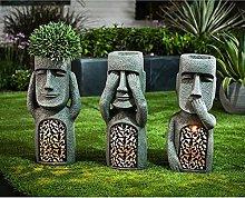 LISAQ Vedi Hear Speak No Evil Garden Statue