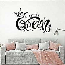 Little Queen Adesivo murale Iscrizione Corona