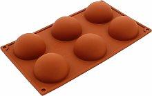 LITZEE 6 cavità grandi semicerchi in silicone