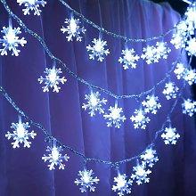 LITZEE 6m 40 luci a stringa con fiocco di neve