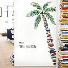 LITZEE Wall Sticker, Book Tree Wall Sticker come