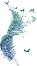 LITZEE Wall Sticker, Feather Wall Sticker come