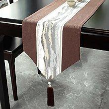 LIUJIU Runner da tavolo, lavabile, con nappe, per