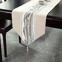 LIUJIU Tovaglia con lati decorativi in cotone e