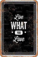 Live What You Love Retro Look 20X30 CM ferro