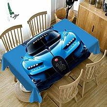LJJJZS Tovaglia Blu Auto Sportiva 3D Antipolvere