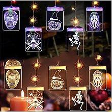 LJWLZFVT Illuminazione di Halloween, lampadari 3D,