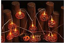 LJWLZFVT Luci Decorative di Halloween, luci Piatte