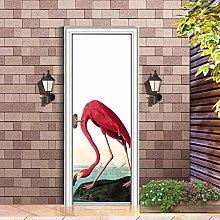 LLWYH Adesivi per Porte Flamingo Waterproof