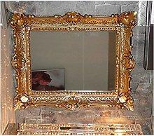 Lnxp Specchio da parete con cornice in oro, 56 x