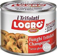 Logro Set 24 Funghi trifolati lattina condimento,