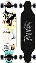 Longboard Skateboard, Modello Fotografico Piatto