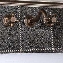 Lookshop - Rubinetto lavabo in bronzo a parete in