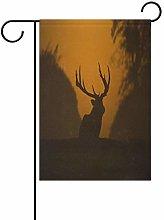 LORONA - Bandiera da giardino a forma di cervo su