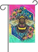 LORONA - Bandiera da giardino con ape su entrambi