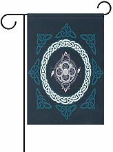 LORONA Bandiera da Giardino con Croce celtica