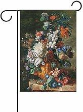 LORONA - Bandiera da giardino con fiori su