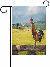 LORONA Bandiera da Giardino con Gallo Decorativo