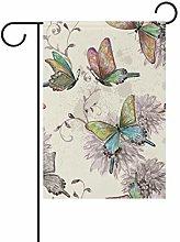 LORONA Butterfly (27) Piccola bandiera da giardino