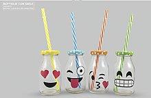 Lotto pezzi 24 Bomboniera bottiglia smile in vetro