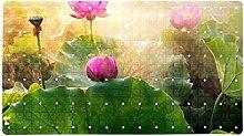 Lotus - Tappeto da bagno antiscivolo per doccia,