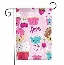 Love Cupcakes ciambelle modello giardino bandiere