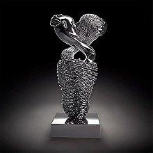 Love Heart 3D Wall Art, scultura astratta in