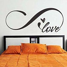 Love Infinity Adesivo Murale Simbolo Camera Da