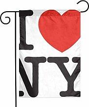 Love Ny - Bandiere da giardino per interni ed