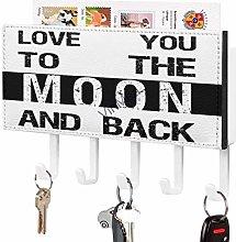 Love You to The Moon and Back, gancio per chiavi