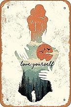 Love Yourself Retro Look 20X30 CM ferro