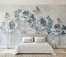Lovemq 3D Farfalla Rosa Carta Da Parati Murale