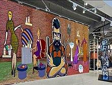 Lovemq 3D Hair Salon Raig Wallpaper Murale