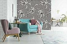 Lovemq 3D Schizzo Fiore Carta Da Parati Murale