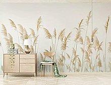 Lovemq Carta Da Parati 3D Golden Reed Murale