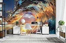 Lovemq Carta Da Parati Murale 3D Con Luce Solare E