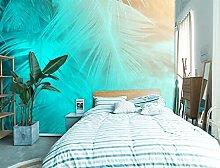 Lovemq Carta Da Parati Murale 3D Con Piume Blu