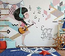 Lovemq Carta Da Parati Murale 3D Music Girl