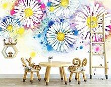 Lovemq Carta Da Parati Murale Con Crisantemo 3D