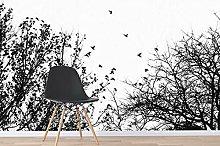 Lovemq Carta Da Parati Murale Con Rami Neri 3D