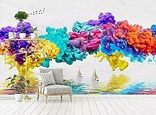 Lovemq Carta Da Parati Murale Con Texture A Colori