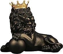 LOVIVER Astratta Corona Statua di Leone