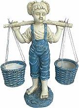 LOVIVER Bambine Statua da Giardino Fioriera